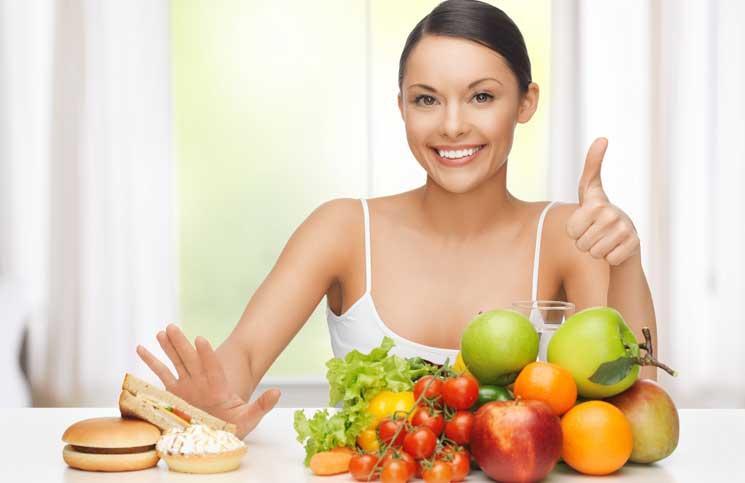diyet yapan kadın