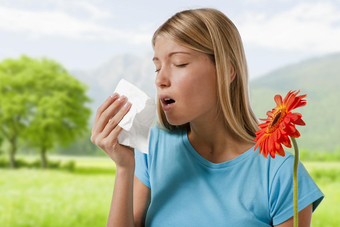 alerji olan kadın
