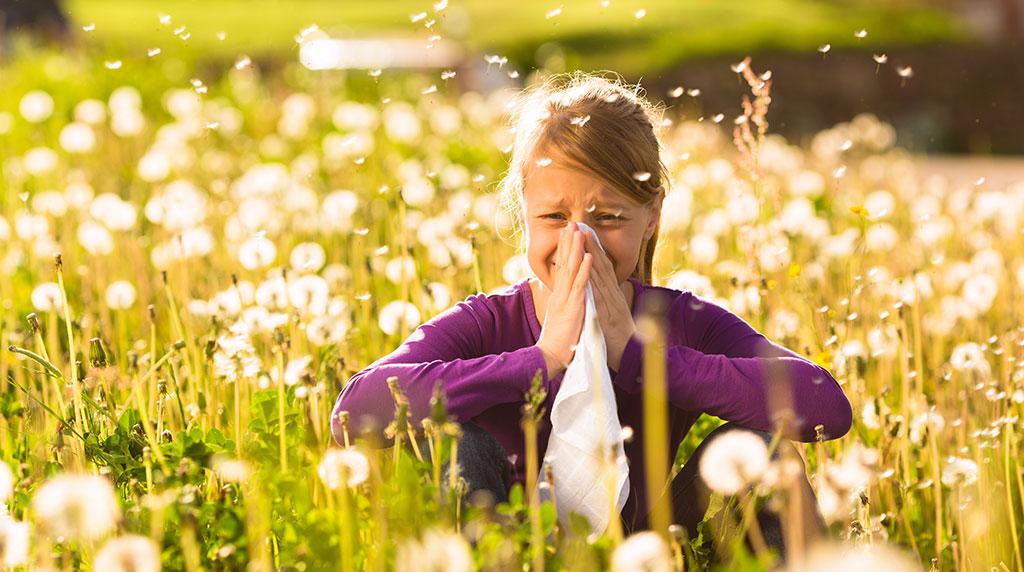 alerji olan kız