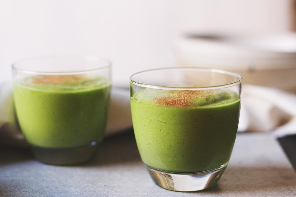yeşil çay smoothie