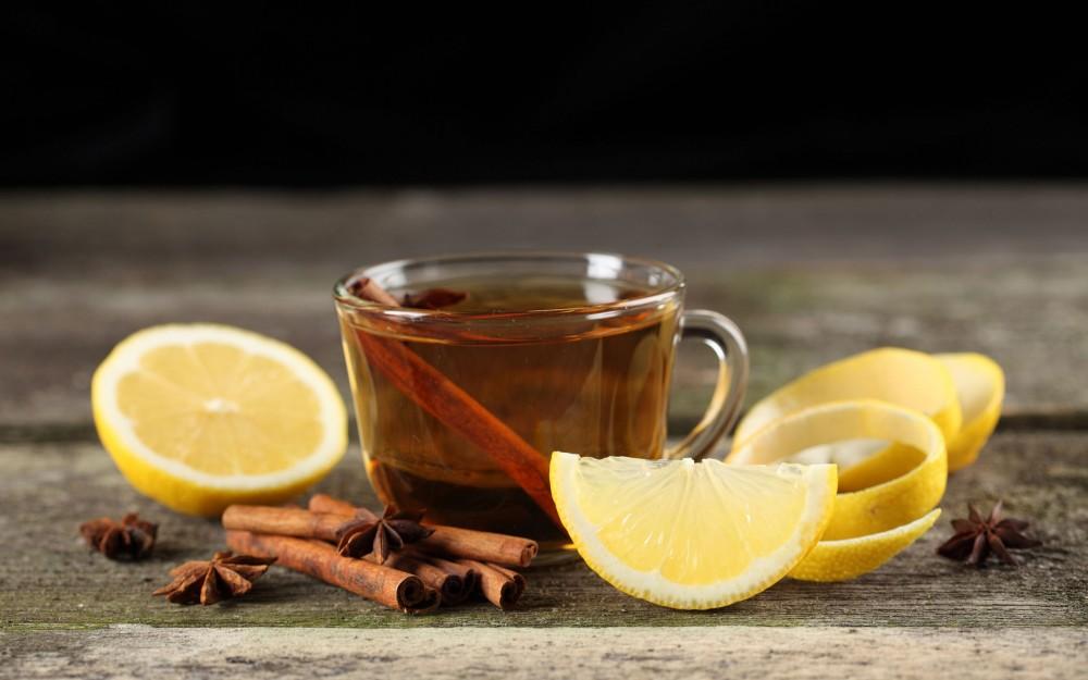 tarçınlu limonlu çay bardağı